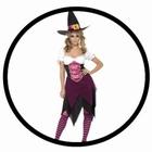 Rosa Hexen Kostüm