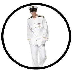 Kapitän Kostüm weiss -  Navy Offizier Captain - Klicken für grössere Ansicht