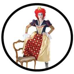 Die rote Königin Kostüm - Alice im Wunderland - Klicken für grössere Ansicht