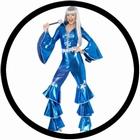 Disco Lady Dancing Dream blau 70er Jahre