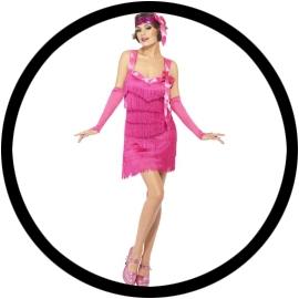 Flapper Hotty Kostüm pink - Klicken für grössere Ansicht