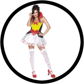 Herzkönigin Kostüm - Queen of Hearts - Klicken für grössere Ansicht