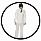 Mafia Kostüm weiss - Nadelstreifen