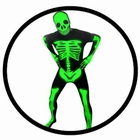 Morphsuit - Leucht Skelett - Ganzk�rperanzug - Glow in the dark
