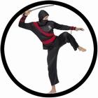 Ninja Kämpfer Kostüm
