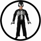 Schwarzes Spiderman Kinder Kostüm - Black Spiderman