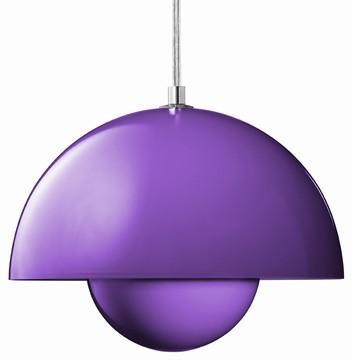FlowerPot Lampe  - purple