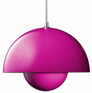 verner panton lampen von klang und kleid flowerpot lampe pink. Black Bedroom Furniture Sets. Home Design Ideas