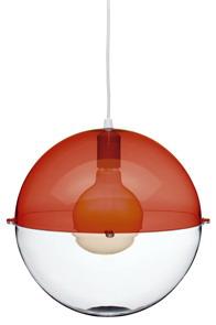 Pendel Orion Lampe Rot - Klar - Koziol