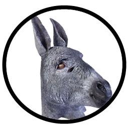 Esel Maske grau - Klicken f�r gr�ssere Ansicht