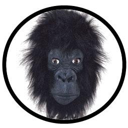 Gorilla Maske Deluxe Erwachsene - Klicken für grössere Ansicht