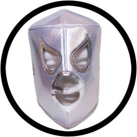 Lucha Libre Maske - El Santo white - Klicken für grössere Ansicht