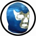 1 x LUCHA LIBRE MASKE - SILVER BLUE DEMON