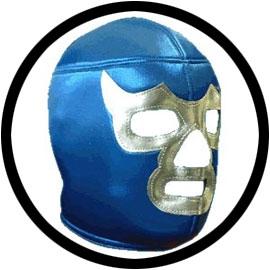 Lucha Libre Maske - Silver Blue Demon - Klicken für grössere Ansicht