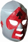 Lucha Libre Maske - Grey-Black-Red