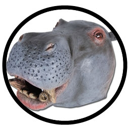 Nilpferd Maske Erwachsene (Flusspferdmaske) - Klicken für grössere Ansicht