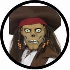 Piraten Zombie Maske - Untoter Pirat Maske