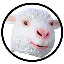Schaf Maske Erwachsene - Klicken für grössere Ansicht