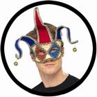 Venezianische Maske Jester - Narrenmaske