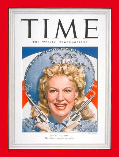 Betty Hutton - Time Magazine Cover