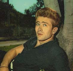 James Dean - am Baum lehnend