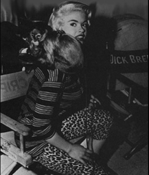 Jayne Mansfield - am Set