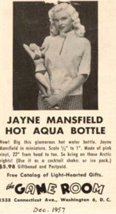 Jayne Mansfield - Hot Aqua Bottle
