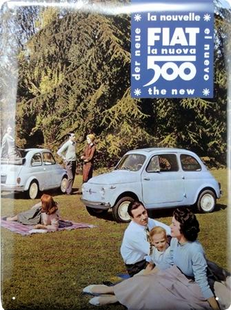 Fiat 500 Blechschild - Der Neue