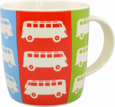 vw bus t1 bulli tasse pop art volkswagen pr sentiert. Black Bedroom Furniture Sets. Home Design Ideas