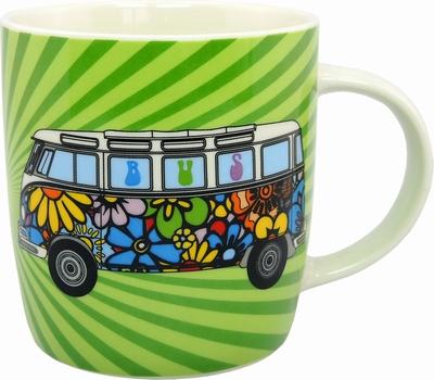 vw bus t1 bulli tasse hippie bulli volkswagen pr sentiert von klang und kleid tassen. Black Bedroom Furniture Sets. Home Design Ideas