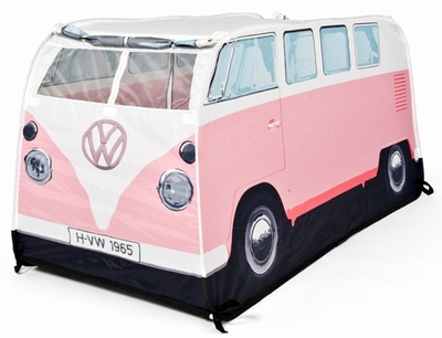 vw bus zelt f r kinder bulli rosa volkswagen pr sentiert von klang und kleid zelt. Black Bedroom Furniture Sets. Home Design Ideas