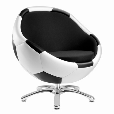 Hattrick Leder/Stoff - Fusskreuz poliert