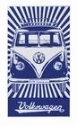 VW BULLI STRANDTUCH - BLAU