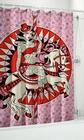 4 x DUSCHVORHANG - CAROUSEL HORSE