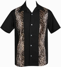 1 x STEADY CLOTHING BOWLING HEMD  - LEOPARD PANEL