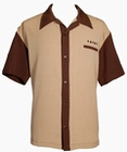 1 x STEADY CLOTHING BOWLING HEMD - THE PLAYER BRAUN