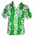 13 x HAWAII HEMD CLASSIC FLOWER - GR�N