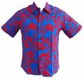 Kalakaua - original Hawaiihemd - Alohi - Blue Red