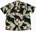 3 x ORIGINAL HAWAIIHEMD - BIRDS OF PARADISE - SCHWARZ - PARADISE FOUND