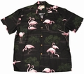 3 x ORIGINAL HAWAIIHEMD - FLAMINGO BLACK - PARADISE FOUND