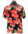 Original Hawaiihemd - Hibiscus Blossom - Schwarz - Paradise Found
