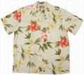 1 x ORIGINAL HAWAIIHEMD - HIBISCUS SUMMER - CREAM - PARADISE FOUND