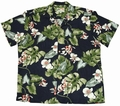 7 x ORIGINAL HAWAIIHEMD - MONSTERA ORCHID NAVY - PARADISE FOUND