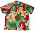 x ORIGINAL HAWAIIHEMD - PLUMERIA BEAUTY RED - PARADISE FOUND