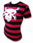 1 x PINK PIRATE GIRLIE-SHIRT - CROSSED BONES