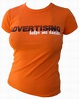 1 x VINTAGEVANTAGE - ADVERTISING HELPS ME DECIDE GIRLIE SHIRT
