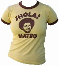 3 x VINTAGEVANTAGE - HOLA! MATEO  GIRLIE SHIRT