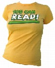 1 x VINTAGEVANTAGE - YOU CAN READ GIRLIE SHIRT