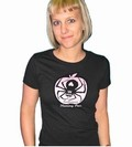 1 x POISONOUS SPIDER GIRL SHIRT SCHWARZ