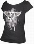 5 x TOXICO SHIRT - PIN UP ANGEL BLACK - GIRLS